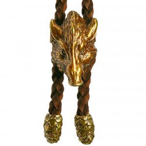 Bolo cravate tête de sanglier en bronze
