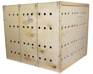 Caisse de transport en bois, taille XL