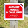 "Panneau ""ASSOCIATION COMMUNALE DE CHASSE AGREEE"", en Polypropylène"